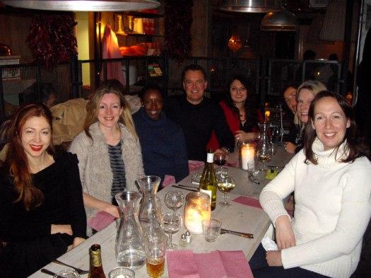 Left: Madina, Anna, Yinka, John, Irina. Right: Kerstin, Tatjana, Shelley. Chris took the photo.